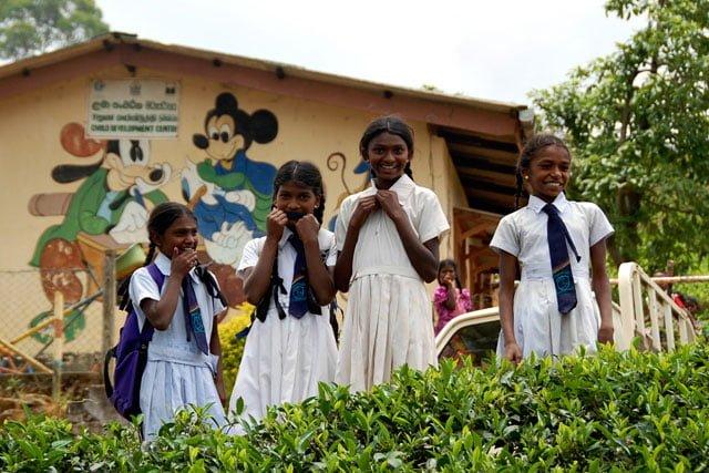 Sri Lanka - rencontre avec des écolières