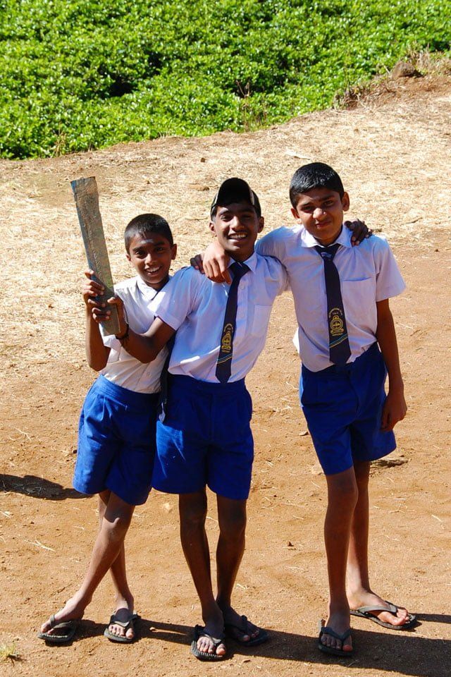 Sri Lanka - jeunes joueurs de cricket