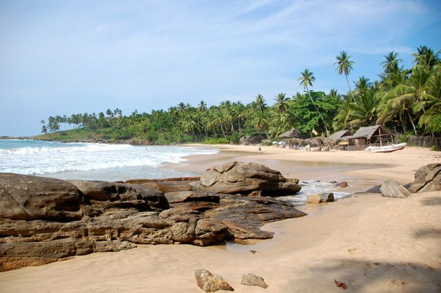 Plage de Tangalle au Sri Lanka