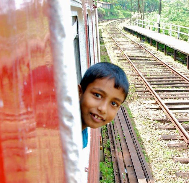 Rencontre dans le train au Sri Lanka
