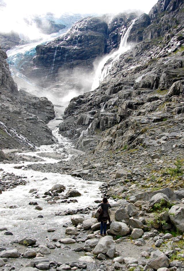 Norvège, le glacier Kjenndal