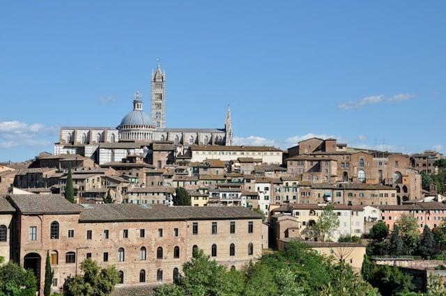 Vue sur Sienne en Toscane