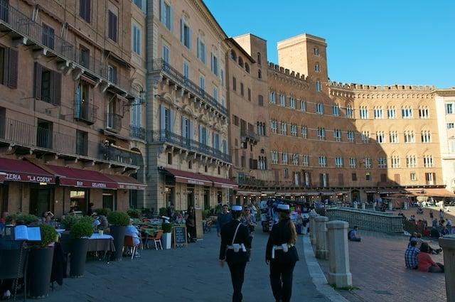 Place du Palio de Sienne en Toscane
