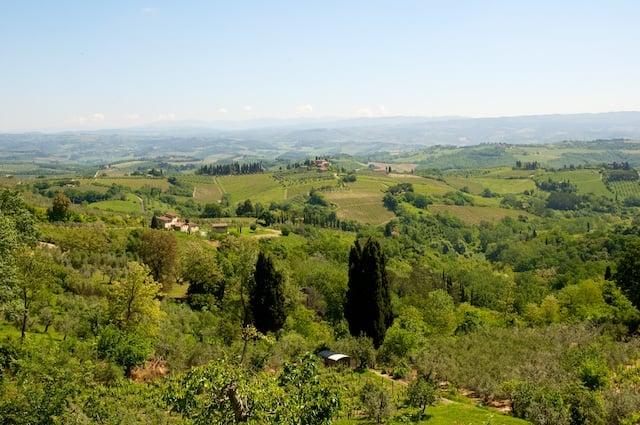 Vue sur la région du Chianti