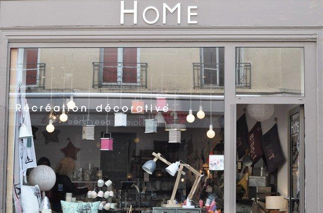 Home : devanture de la boutique de déco à Saint Germain en Laye