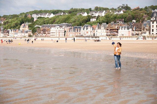 Plage de Trouville en Normandie