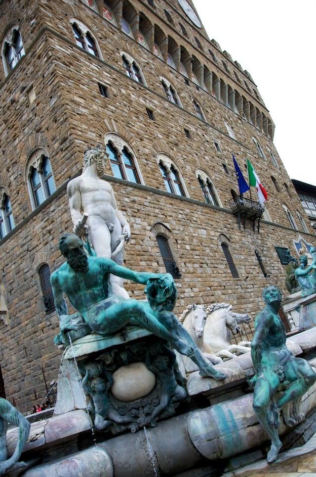 Piazza della Signoria à Florence (Firenze) en Toscane en Italie