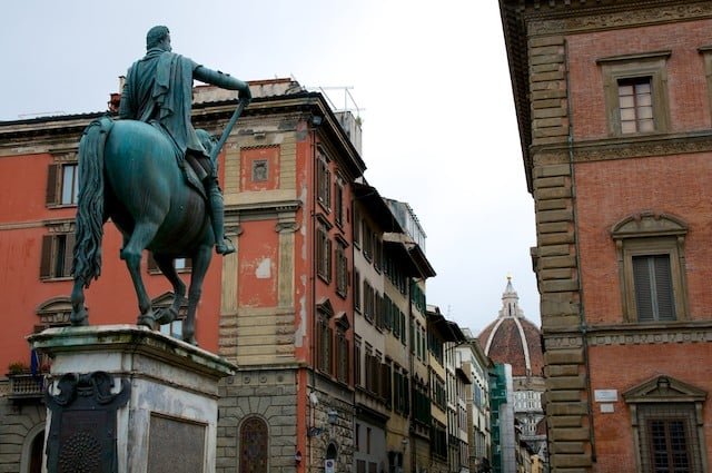 Dans les rues de Florence (Firenze) en Toscane en Italie