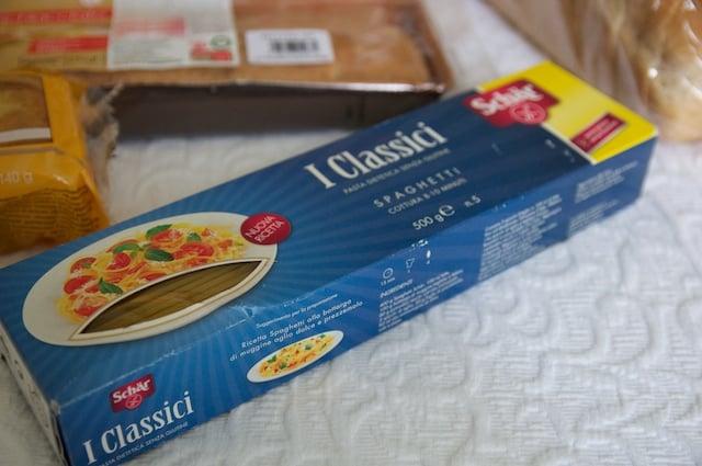 Pâtes sans gluten Schar en Italie