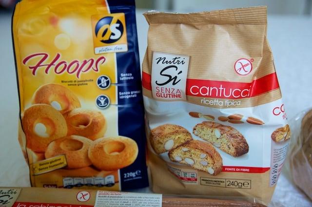Cantucci sans gluten et biscuits Hoops DS Schar