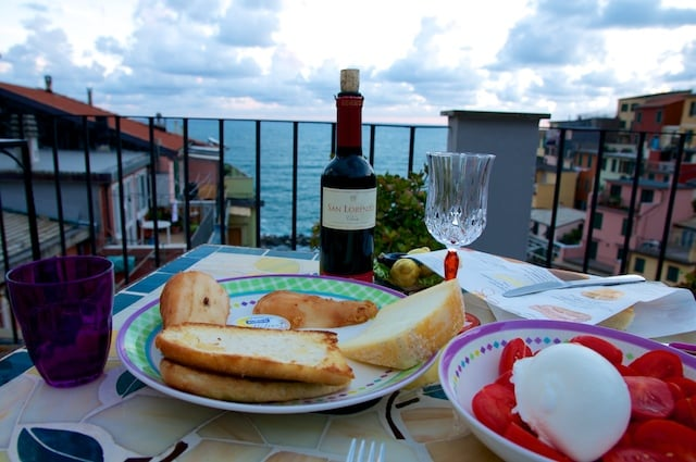 Vue de notre terrasse à Riomaggiore Les Cinque Terre en Ligurie