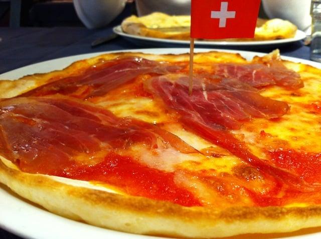 Pizza sans gluten au restaurant Renovatio la Soffitta à Rome en Italie