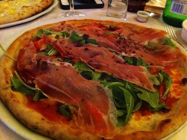Pizza sans gluten du restaurant Ciro&Sons à Florence en Italie