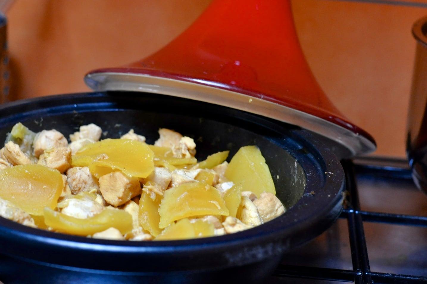 Recette tajine de poulet à la manque sans gluten et sans lait