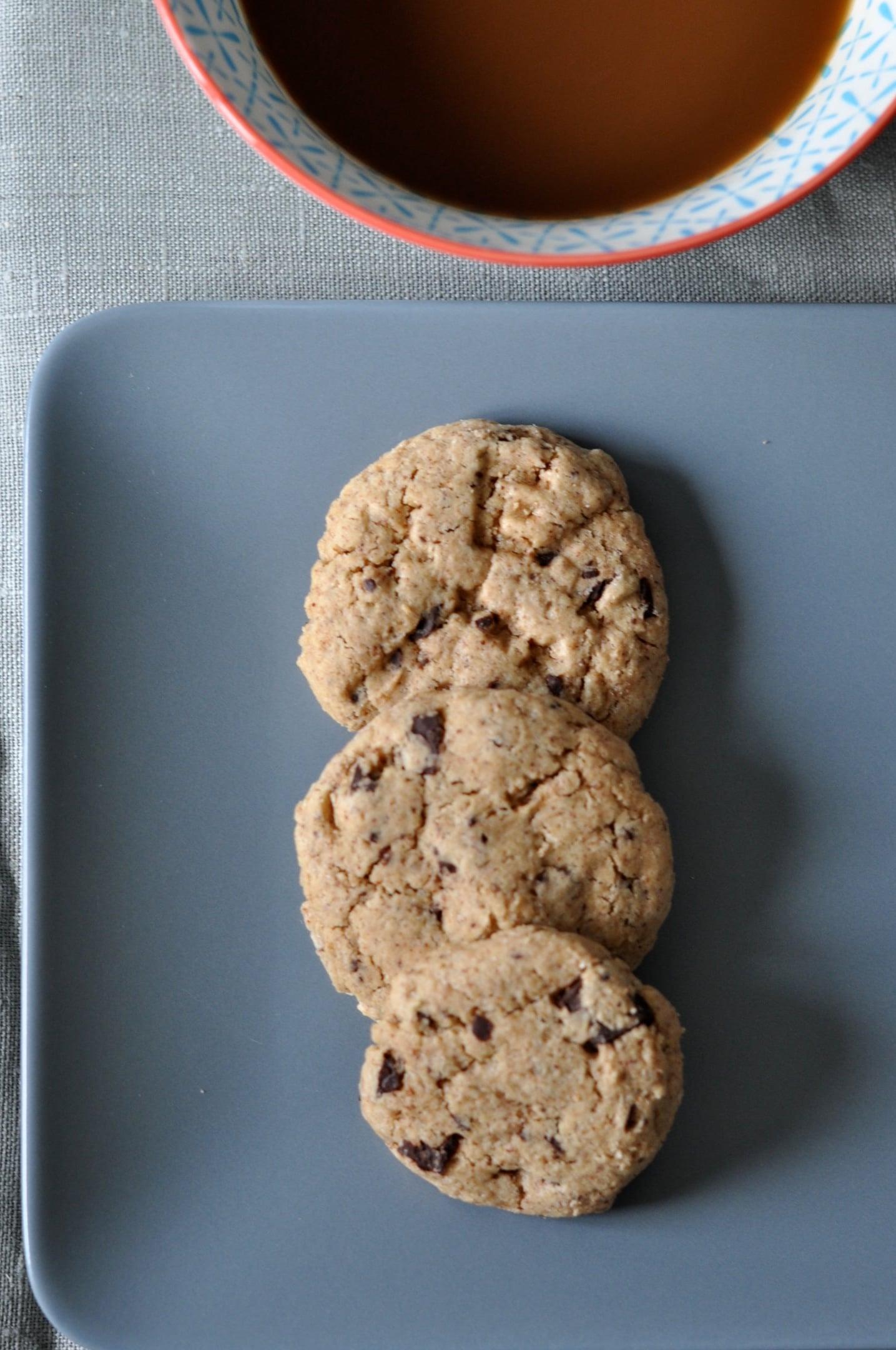 Cookies au chocolat sans gluten et sans lait