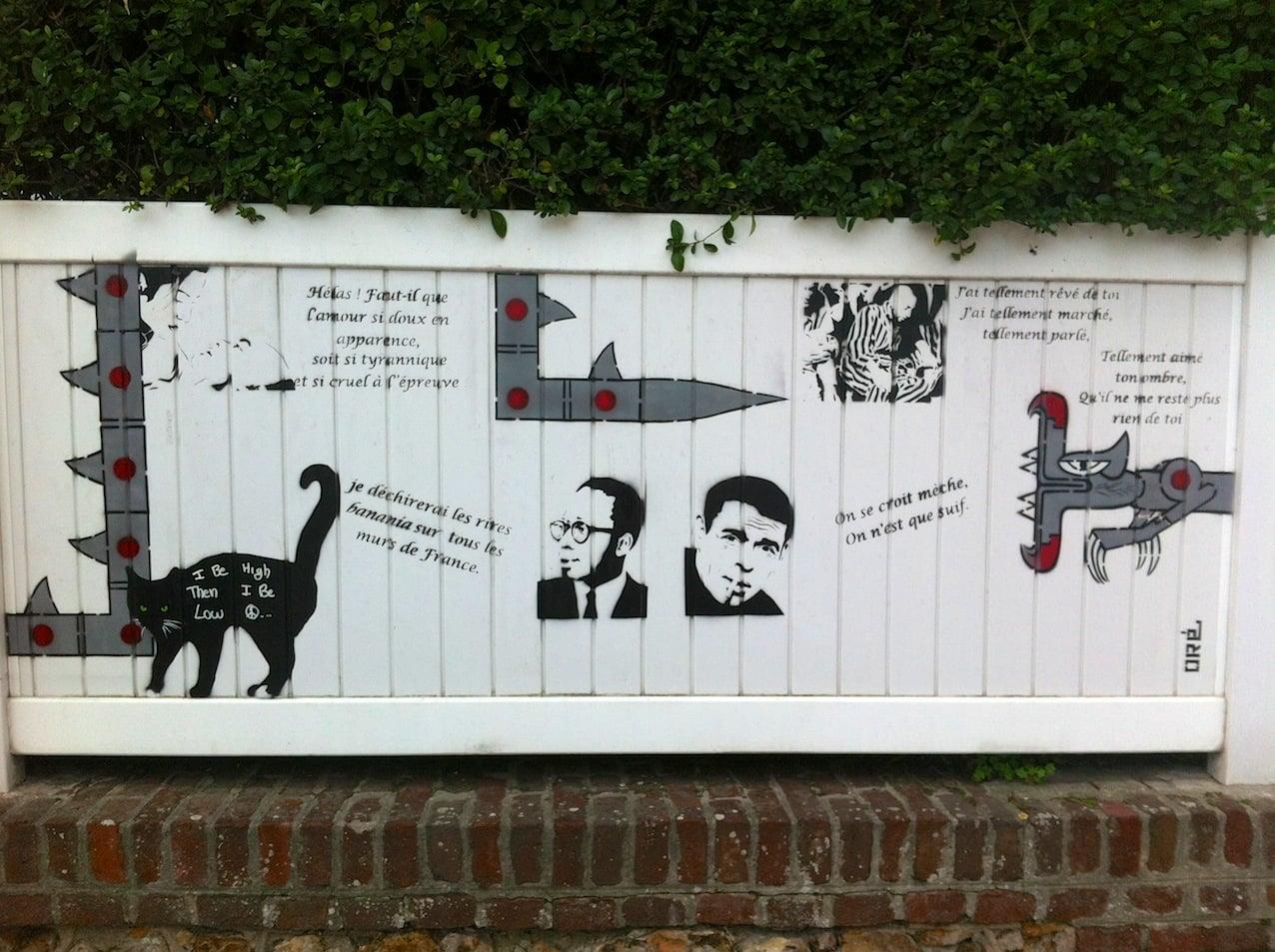 Exposition street art à la galerie d'art La Bohême de Deauville en Normandie