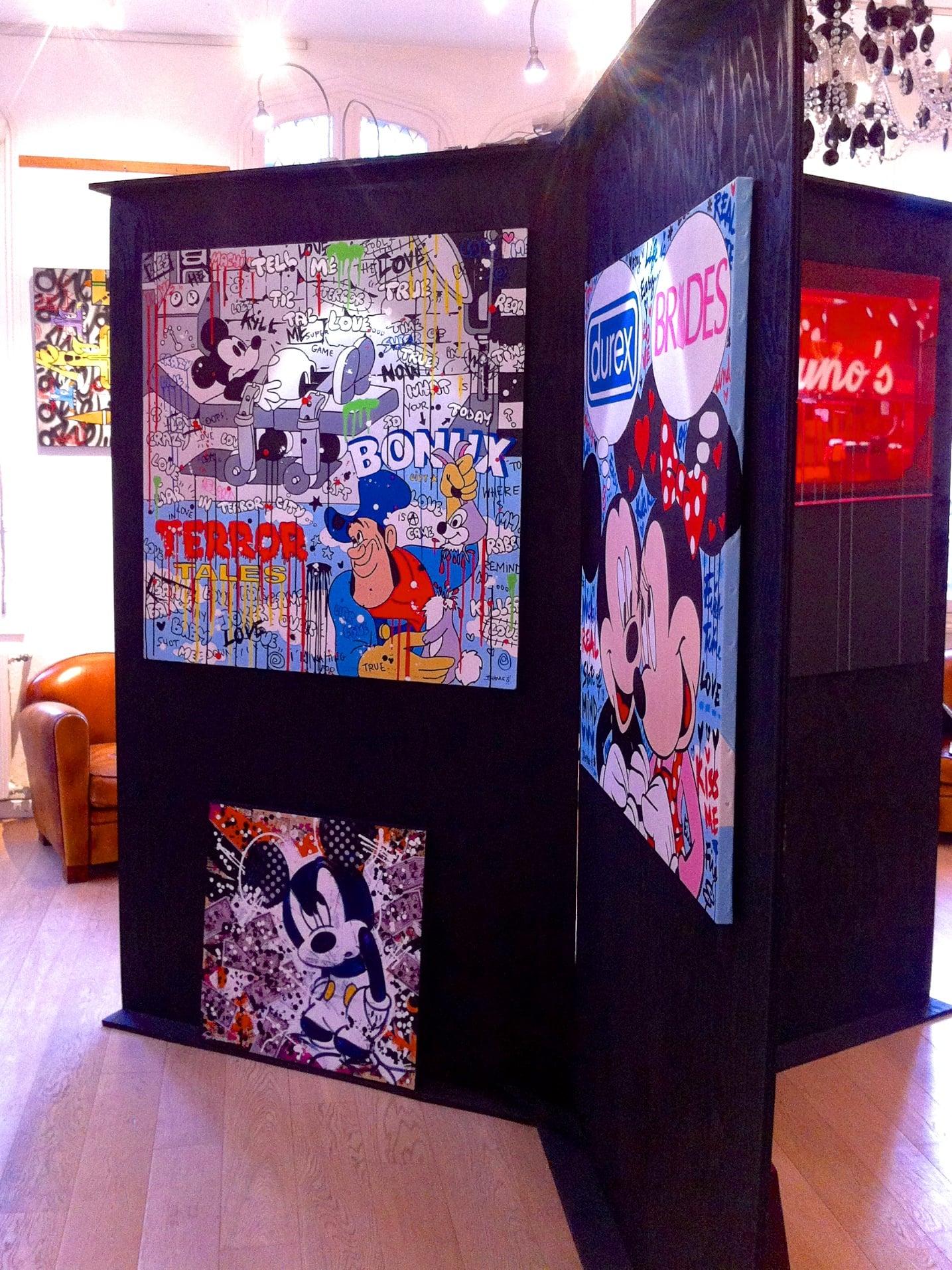 Exposition street art à la galerie d'art La Bohême de Deauville