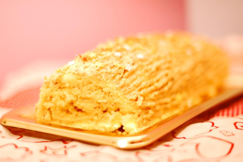 Recette bûche de Noël à la crème au beurre pralinée