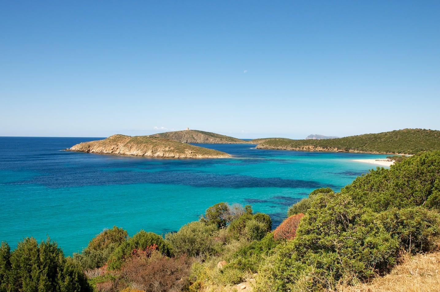plage de Tuerrada en Sardaigne