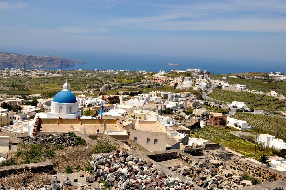 à Pyrgos à Santorin