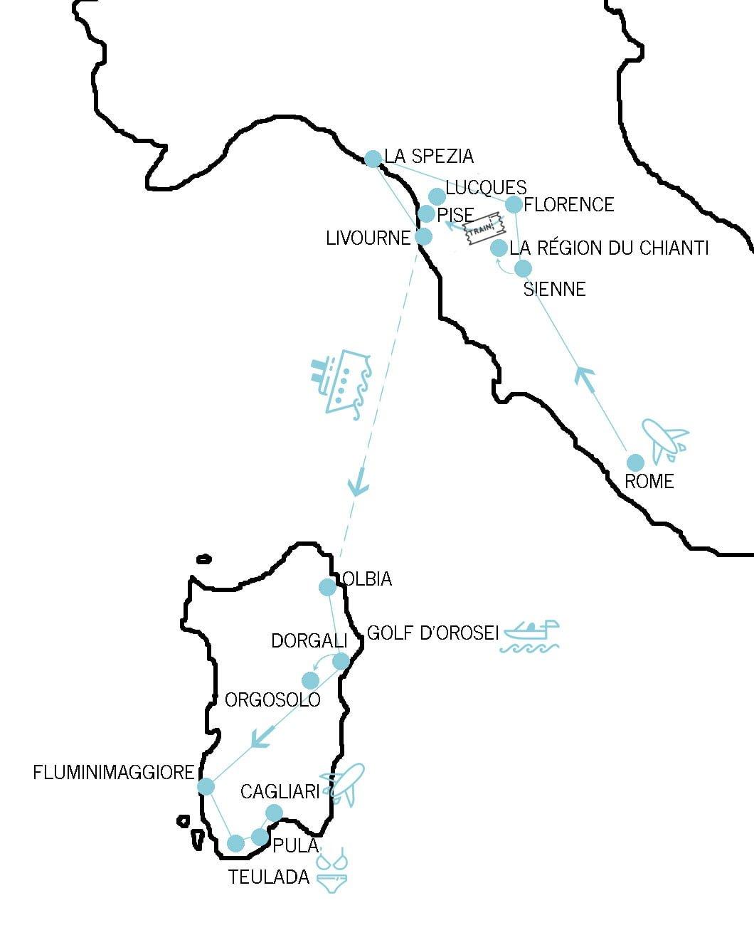 Itinéraire voyage en Italie : Rome, La Toscane et la Sicile