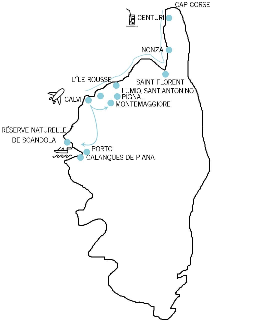 Itinéraire Corse