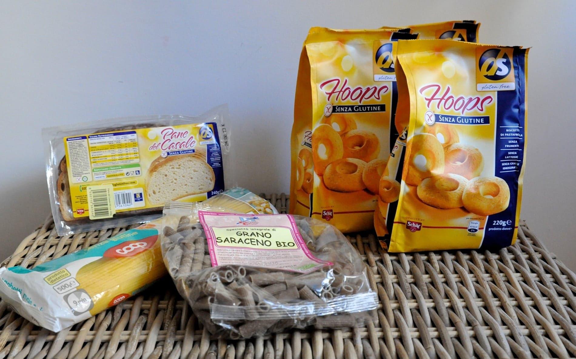 Produits sans gluten achetés en Sardaigne