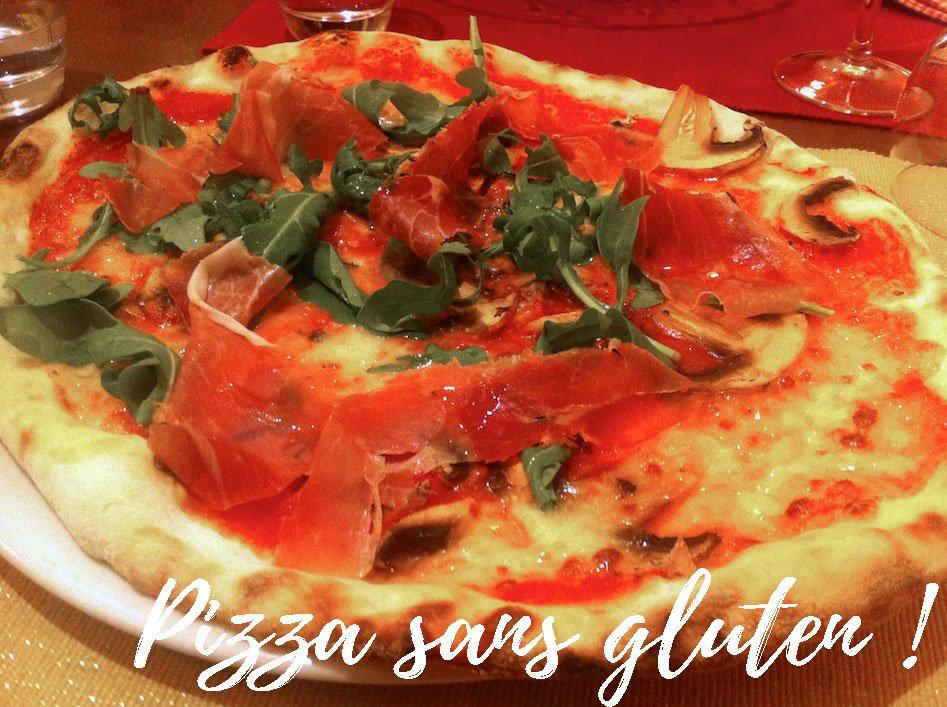 Pizza sans gluten au restaurant Man.gia à Cagliari
