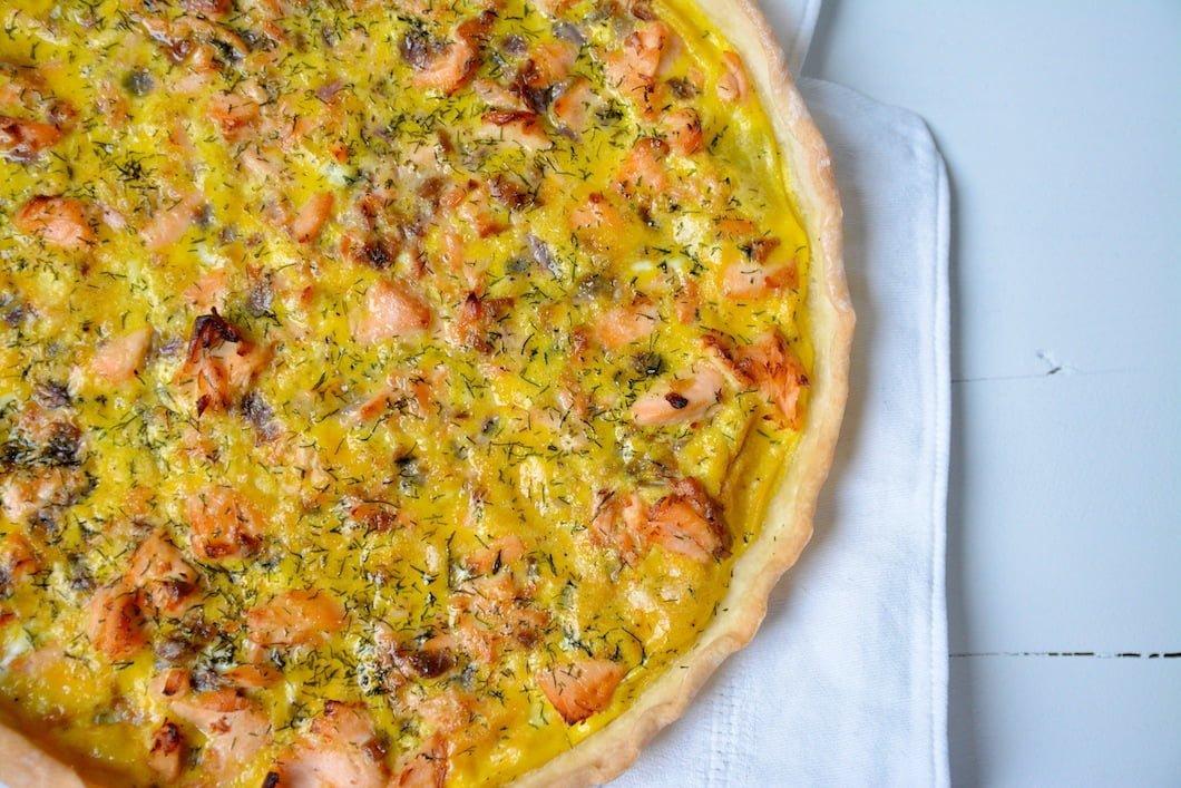 Quiche express au saumon sans gluten et sans lactose