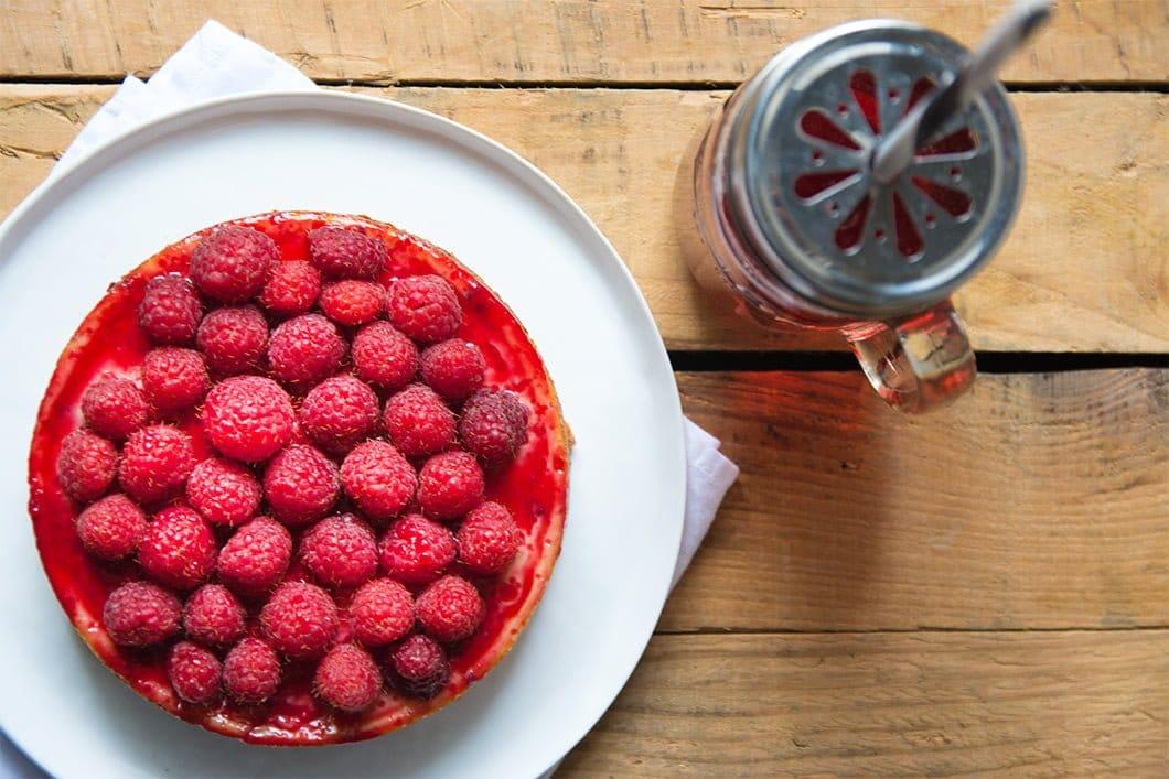 Cheesecake sans lait de vache et sans gluten au chocolat, amande et framboises - 22 v'la Scarlett