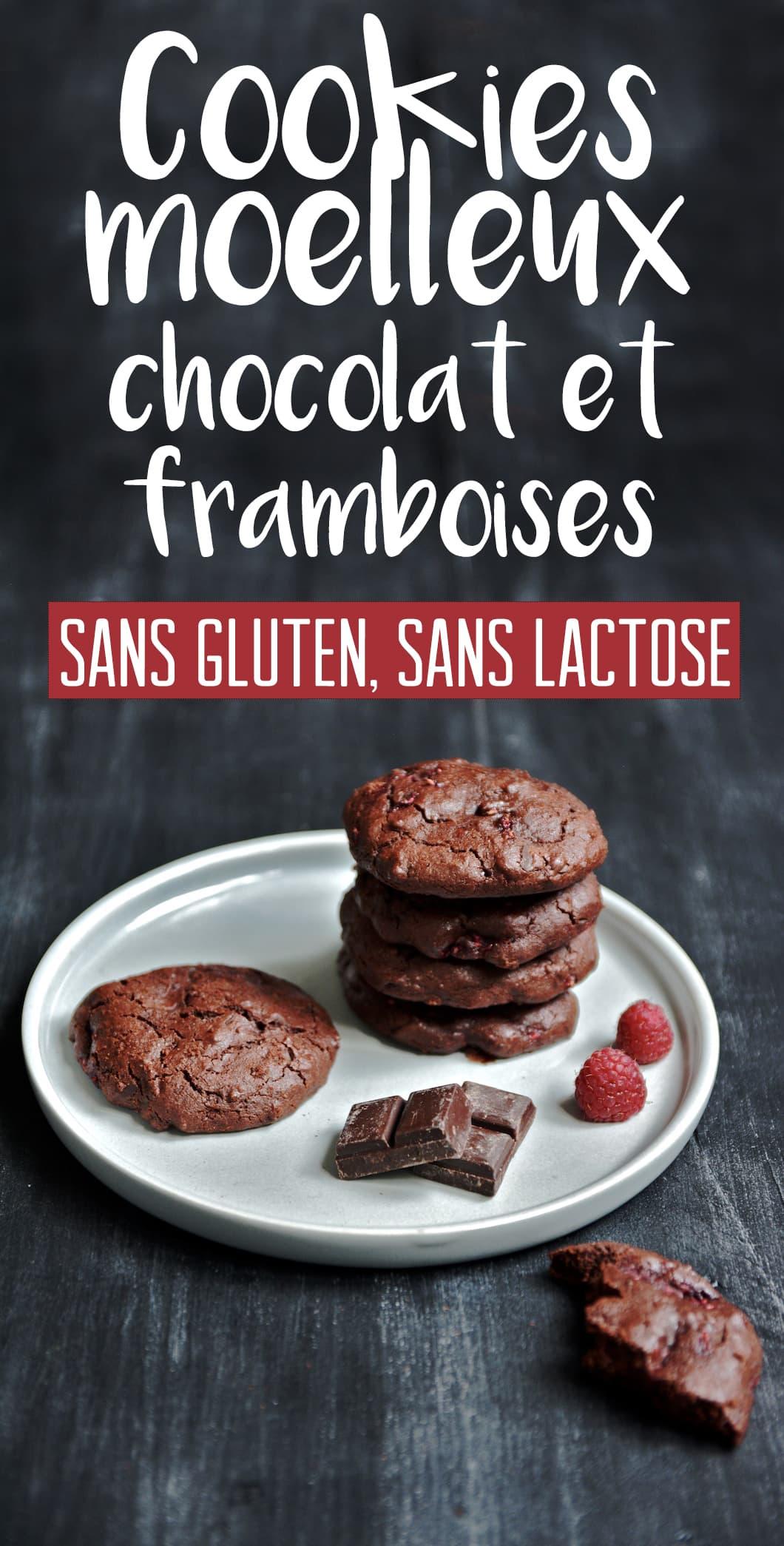 Des cookies moelleux sans gluten et sans lactose très forts en chocolat et aux framboises - 22 v'la Scarlett
