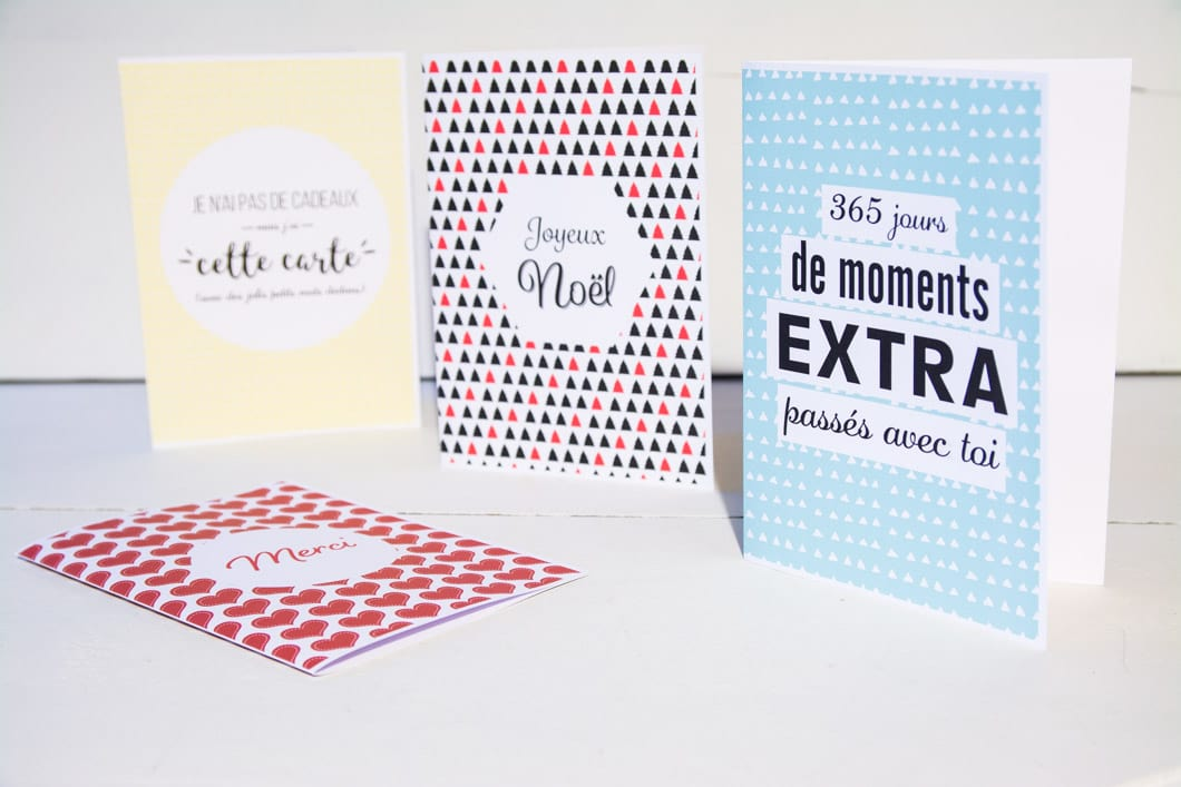 Printable : Je vous propose 4 cartes de voeux à imprimer pour Noël ! - 22 v'la Scarlett