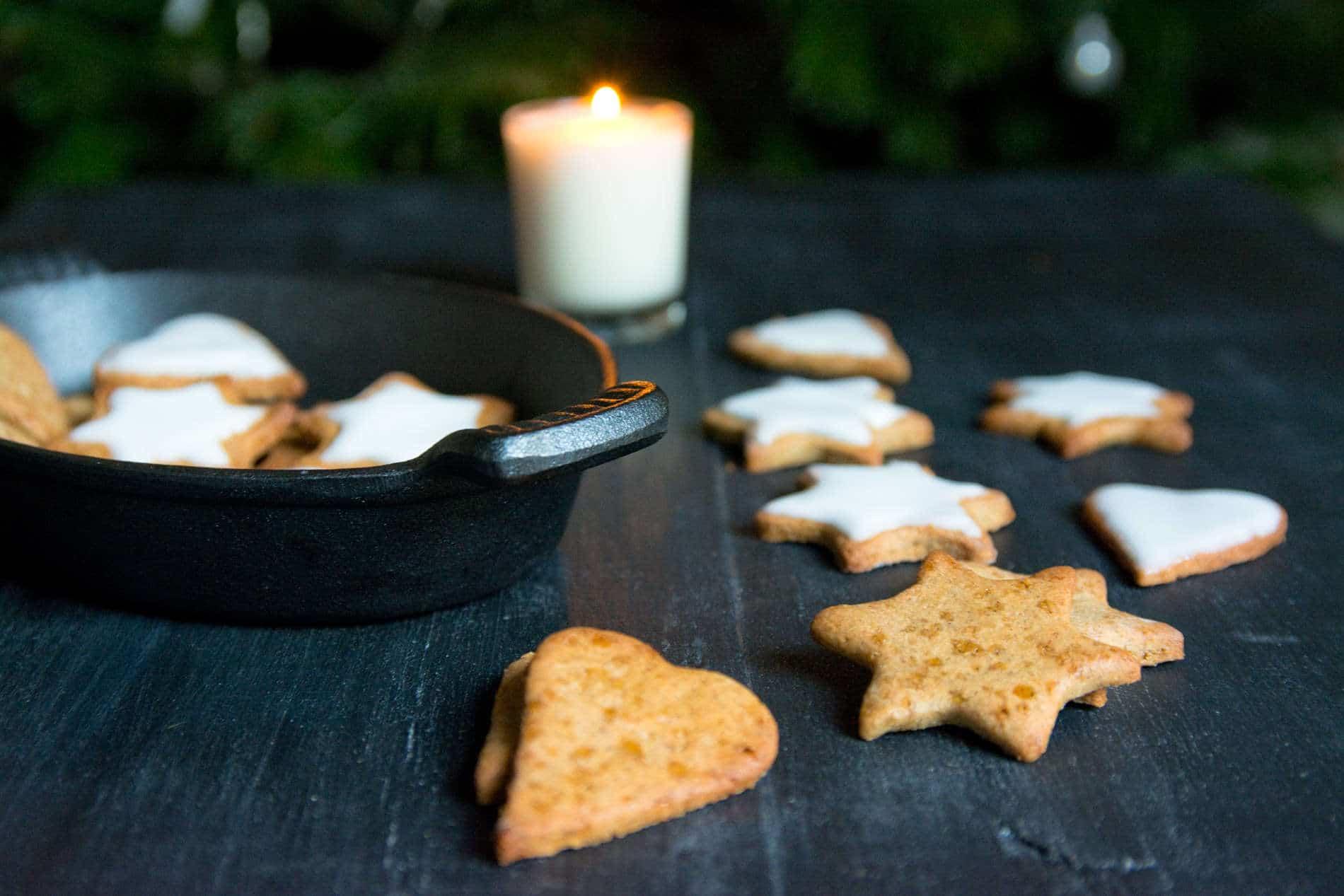 Sablés de Noël sarrasin et coco // Sans gluten, sans lactose