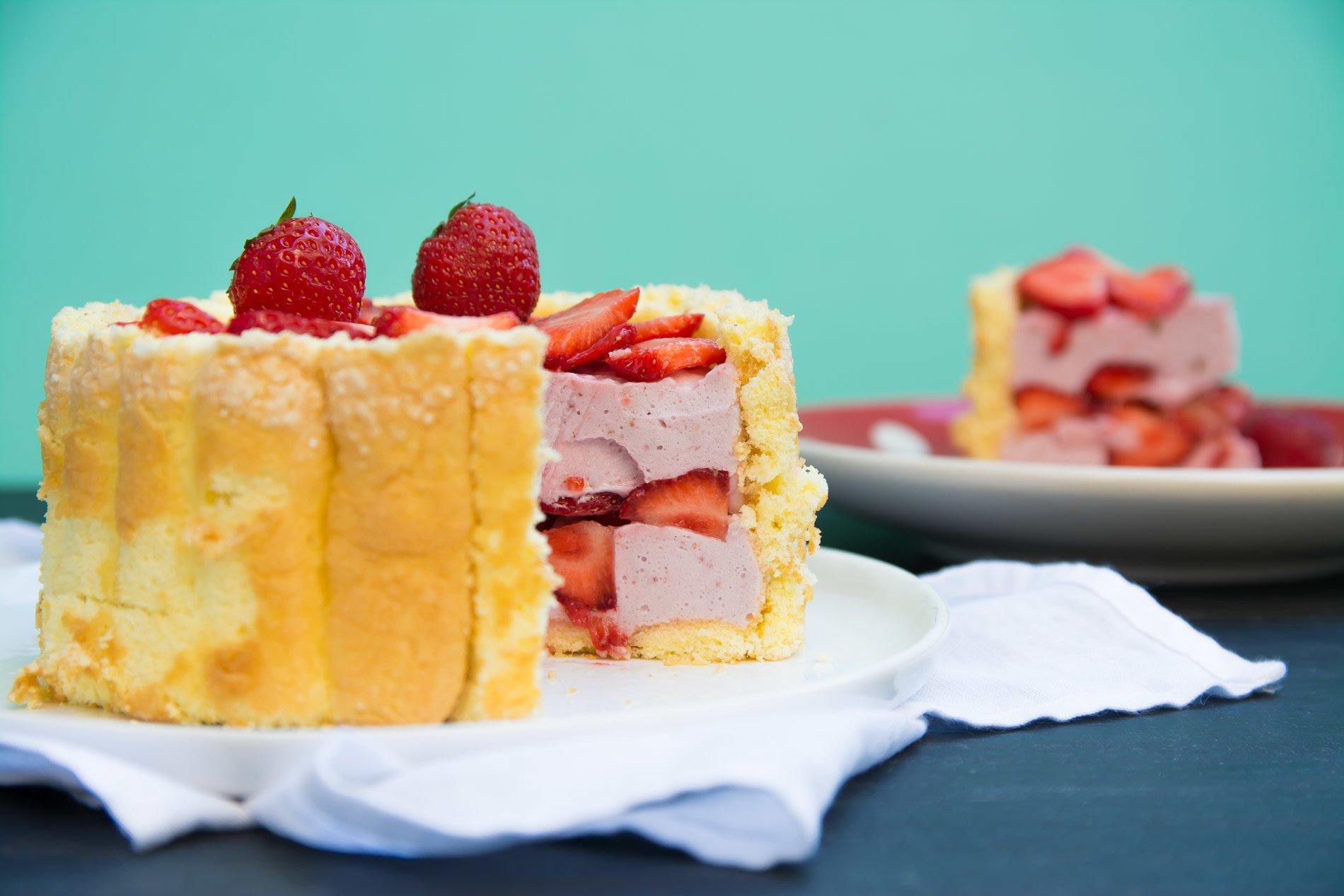 Charlotte aux fraises & crème de coco // Sans gluten, sans lactose