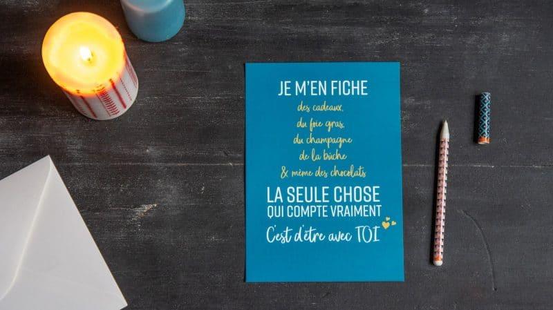 Carte de voeux Noël - 22 v'la Scarlett