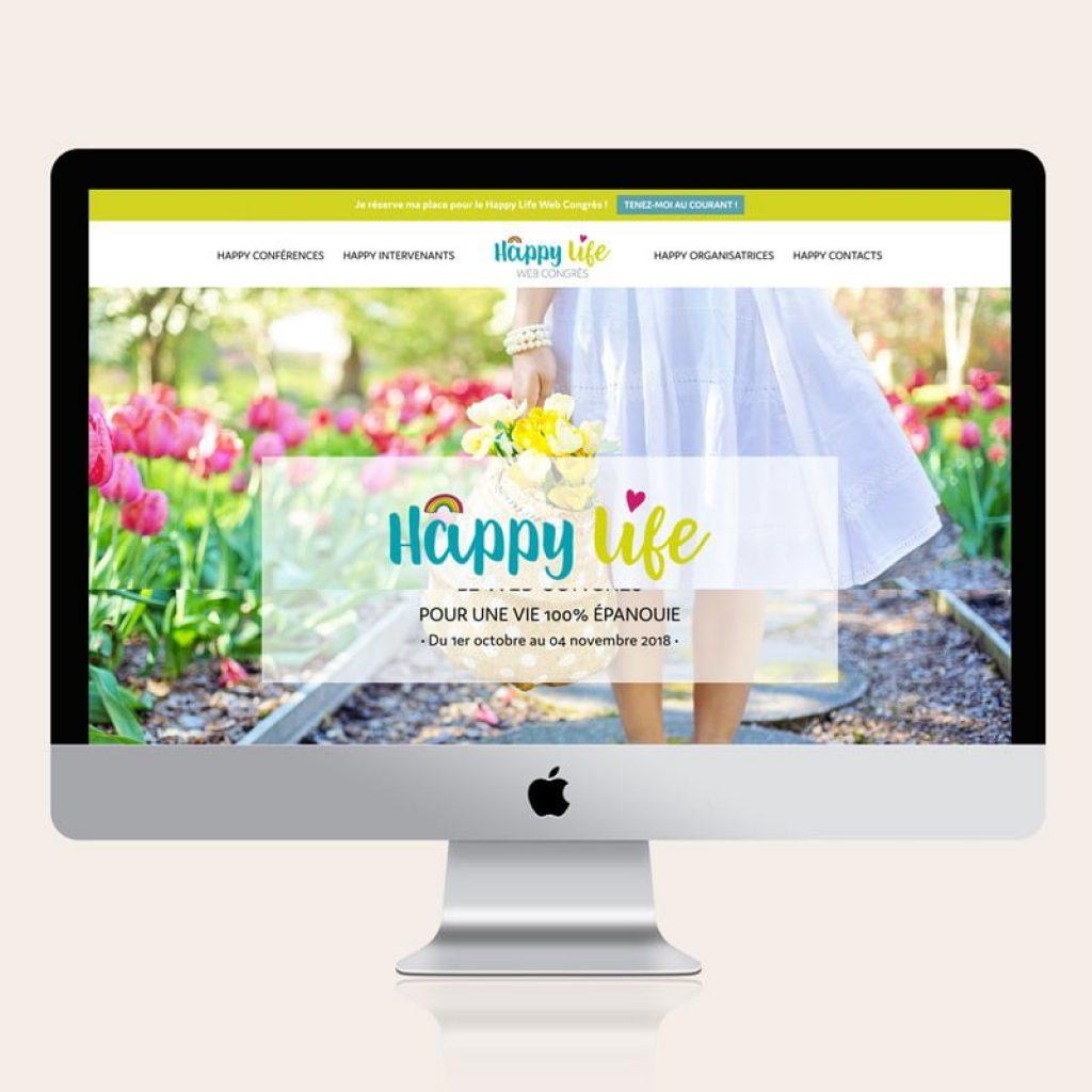 Site internet Happy Life Web Congrès - Par 22 v'la Scarlett