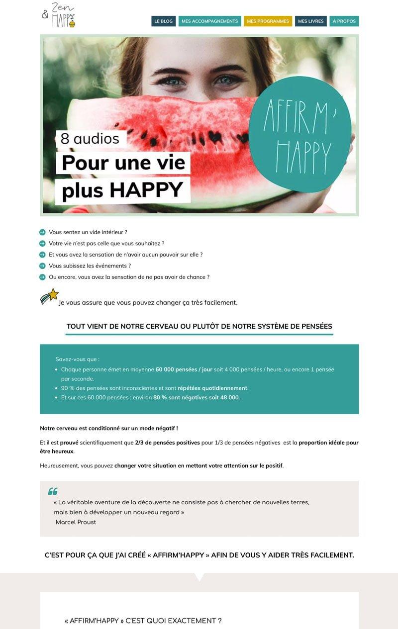 Site internet Zen et Happy - Par 22 v'la Scarlett