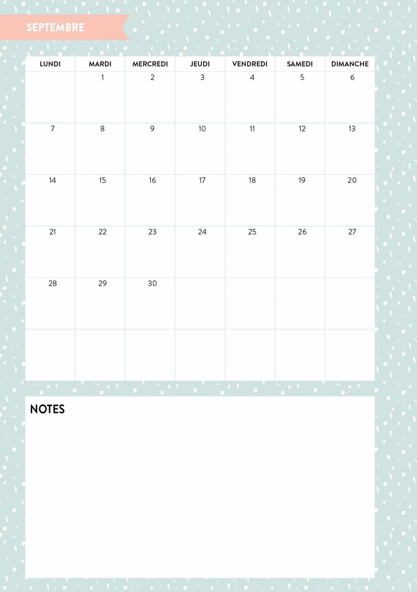 L'agenda 2020 qui me veut du bien : calendrier mensuel - 22 v'la Scarlett