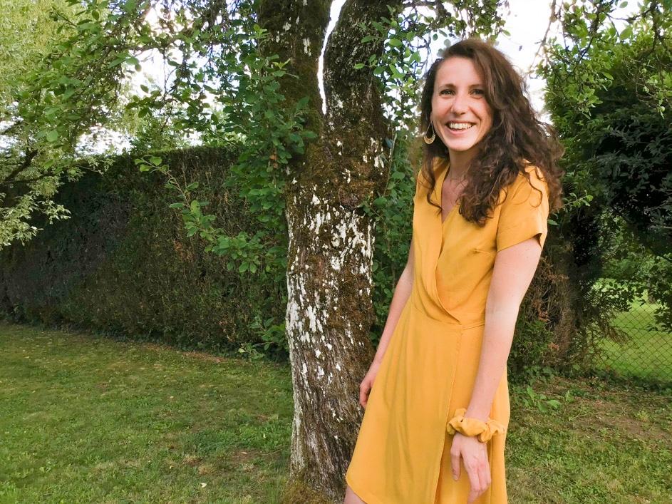 Fier comme un paon : couture pour débutante de la robe La Twistante