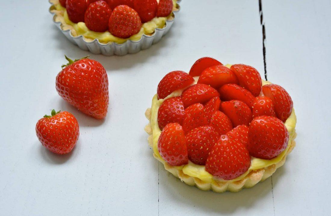 Ma recette de tartelettes aux fraises et à la crème de lait de coco // Sans gluten et sans lactose