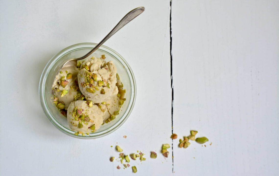 Glace à la pistache onctueuse sans lactose, sans gluten et vegan - 22 v'la Scarlett