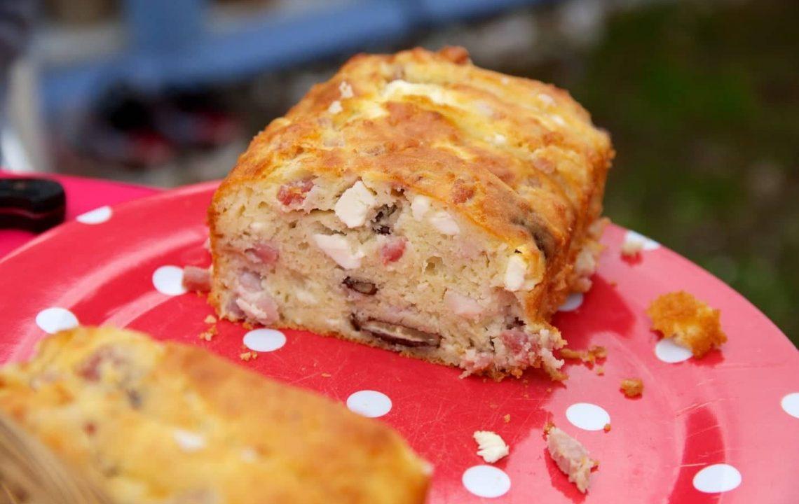 cake feta lardons noix sans gluten