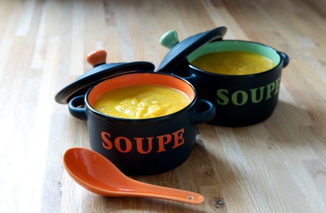 Soupe carottes, lait de coco, coriandre, sans lactose