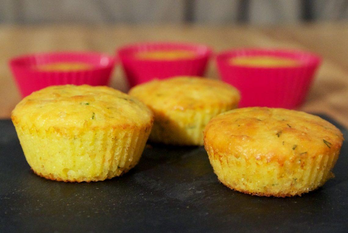 Muffins salés au saumon sans gluten et sans lait