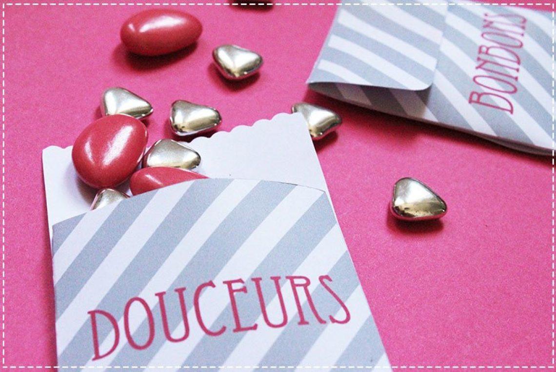 Le Candy Bar: pochettes de bonbons à imprimer